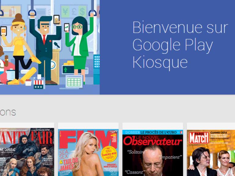 Google Play Kiosque : ouverture des abonnements payants