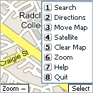 Menu principal de Google Local for Mobile