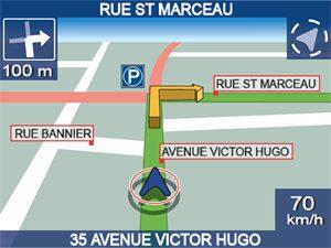 Copie d'écran du GPS iCN 530