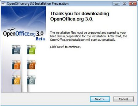 OpenOffice 3.0 de Sun Microsystems
