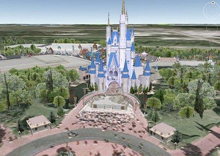 Disney World en 3D sur Google Earth