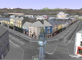 Modélisation 3D de la ville de Westport en Irlande