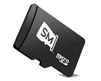Carte microSD du fabricant SanDisk, baptisée slotMusic