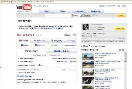Une fausse page YouTube créée par un programme malveillant