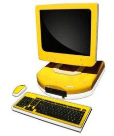 Modèle de PC écolo et recyclable conçu par la société Ashelvea