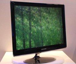 Modèle d'écran plat LED présenté par Samsung au CES 2009