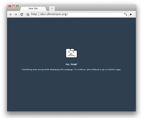Capture d'écran présentant le moteur de rendu des pages web sous Mac.