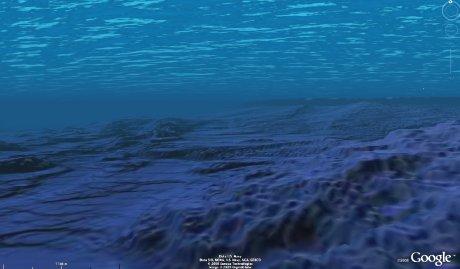 Bathymétrie de la côte de Hawaii