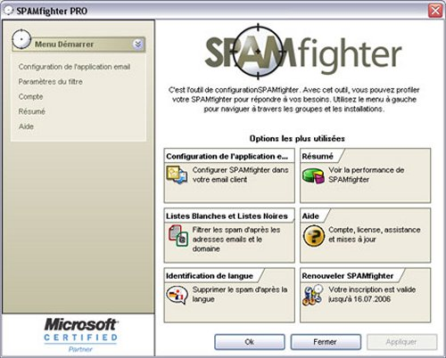 SPAMFIGHTER STANDARD TÉLÉCHARGER