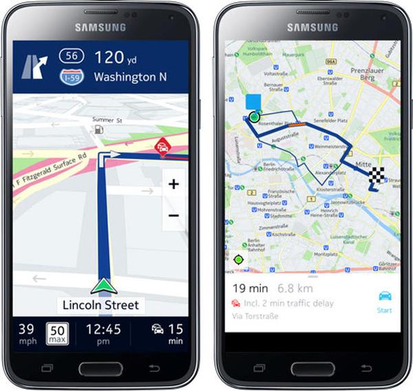 nokia here smartphones navigation