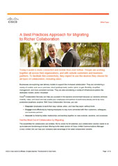 A Best Practices Approach for Migrating to Richer Collaboration