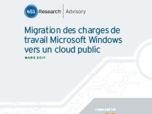 Migration des charges de travail Microsoft Windows vers un cloud public
