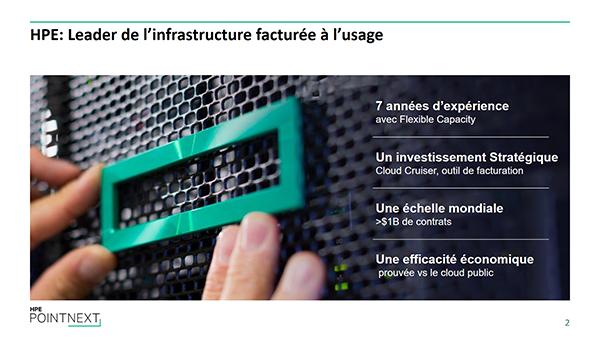 HPE : Leader de l'infrastructure facturée à l'usage