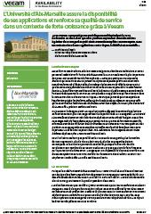Success story : l'Université d'Aix-Marseille assure la disponibilité de ses applications et renforce sa qualité de service dans un contexte de forte croissance grâce à Veeam