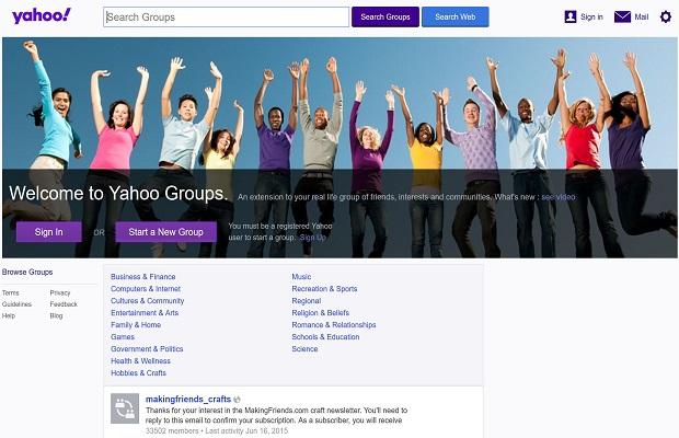 Mail classique mais aussi pour la version plus récente de Yahoo!