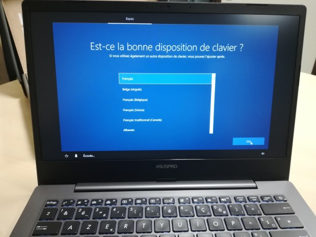 Avis Patrice Testeurs Pros PC portable AsusPro P5440 - installation