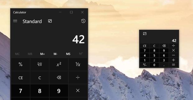"L'emblématique calculatrice Windows adopte un mode ""Always on top"""