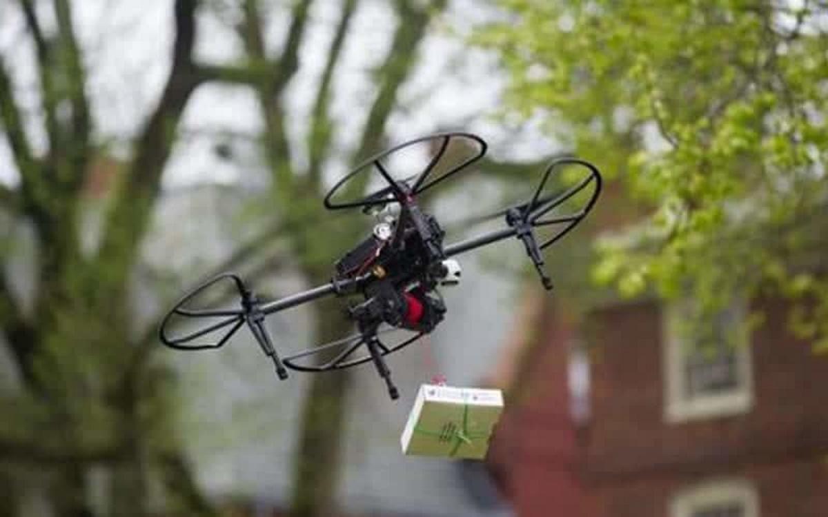 Les drones livreront-ils des marchandises via de longues cordes ?
