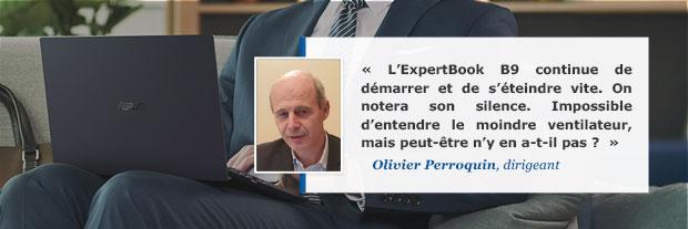 Avis d'Olivier sur l'ultraportable Asus ExpertBook B9
