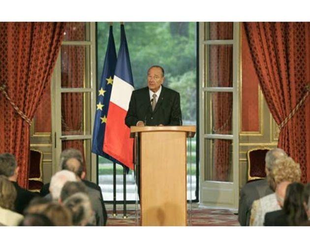 Jacques Chirac en 2002 :