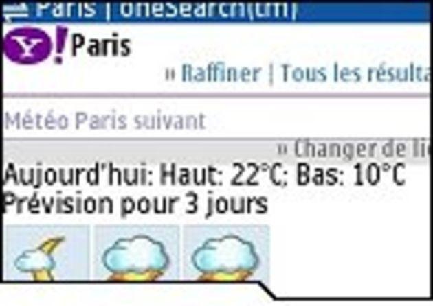 OneSearch: le moteur de recherche pour mobile de Yahoo en version française