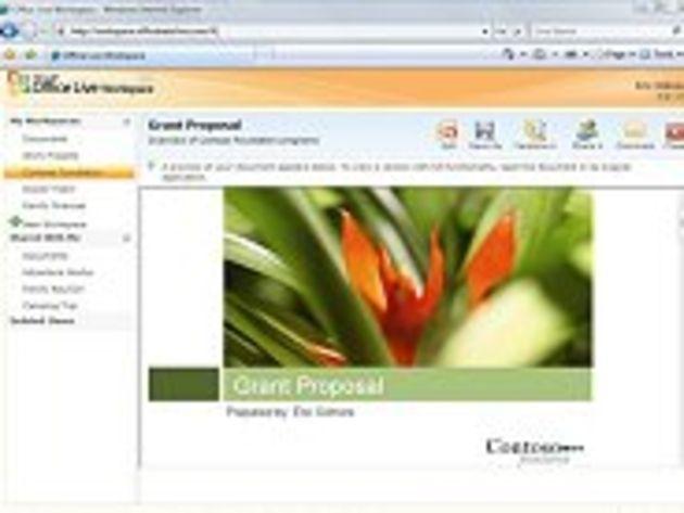 Premières images de Office Live Workspace