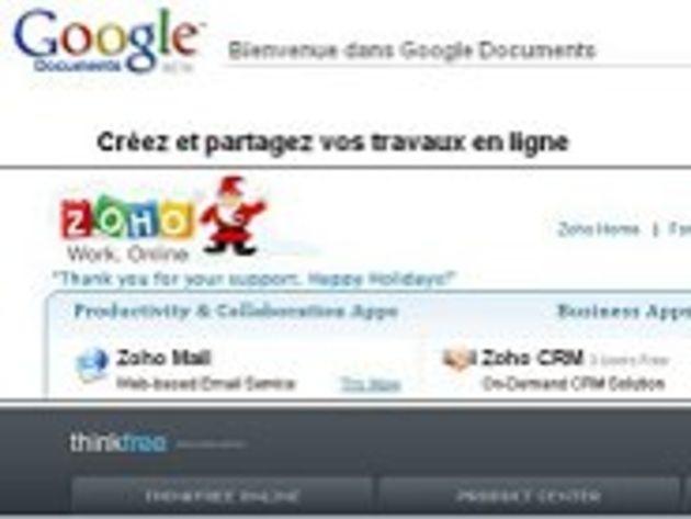 Bureautique : trois services en ligne, alternatives à Office