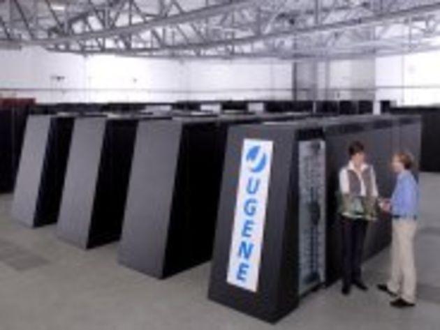Supercalculateur allemand Jugene : les images de son installation