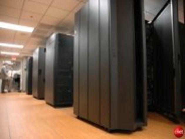 Visite guidée du centre serveurs, vert, d'IBM