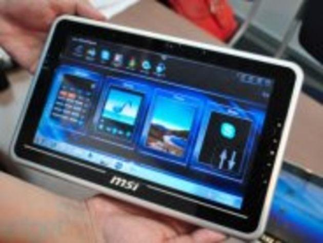 Computex - MSI présente le WinPad 100, une tablette 10 pouces sous Windows 7
