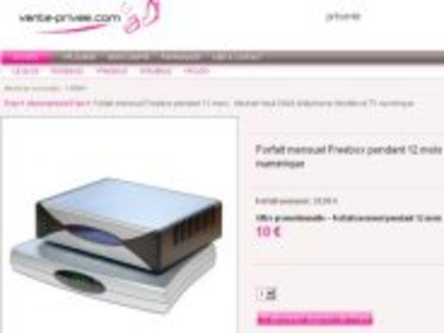 Free brade ses abonnements ADSL à 10 euros sur vente-privée.com