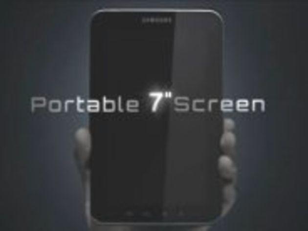 Samsung diffuse un teaser de sa tablette 7 pouces Galaxy Tab sous Android 2.2
