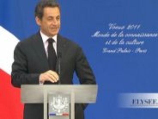 Nicolas Sarkozy se félicite de nouveau du vote et des résultats d'Hadopi