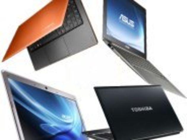 Les ultrabooks ne dépassent pas le seuil des 5% de ventes de PC portables