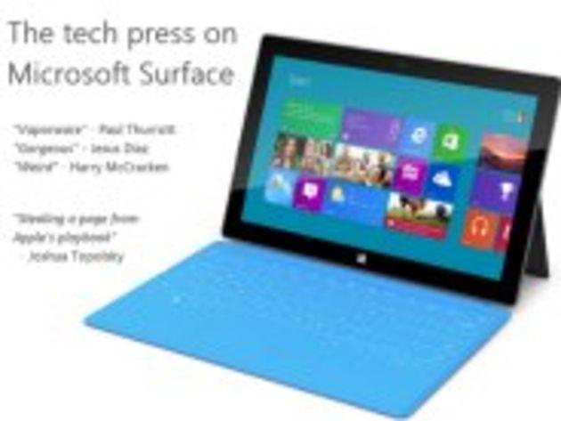 Surface : coup sans lendemain, innovante, copie de l'iPad... la presse IT réagit