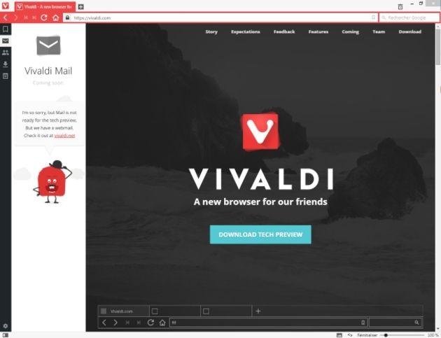 Vivaldi se fait passer pour Chrome afin d'éviter les blocages