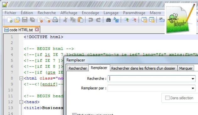 Quelles applications pour éditer du code HTML ou JavaScript ?