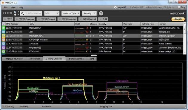 Quelles applications pour analyser les réseaux Wi-Fi ?