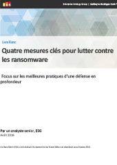 Quatre mesures clés pour lutter contre les ransomware