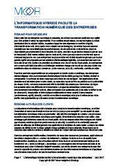 L'informatique hybride facilite la transformation numérique des entreprises