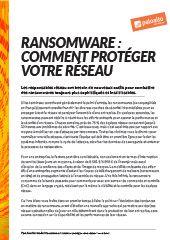 Ransomware : comment protéger votre réseau