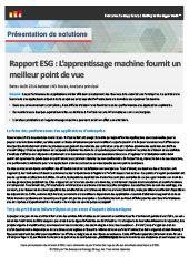 Rapport ESG: L'apprentissage machine fournit un meilleur point de vue