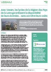 Success Story : avec Veeam, les lycées de la Région des Pays de la Loire garantissent la disponibilité de leurs données… sans accroître leurs coûts