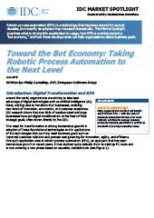 Avec l'économie du bot: passer l'automatisation des processus robotiques à un niveau supérieur