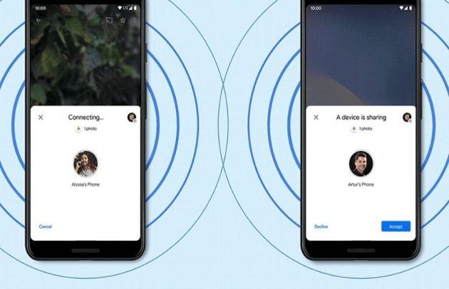 Android : Google lance Nearby Share pour faciliter le partage de contenu