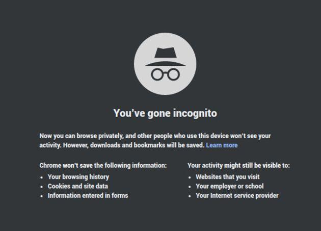 Mode Incognito : Google Chrome ne caftera pas auprès des sites