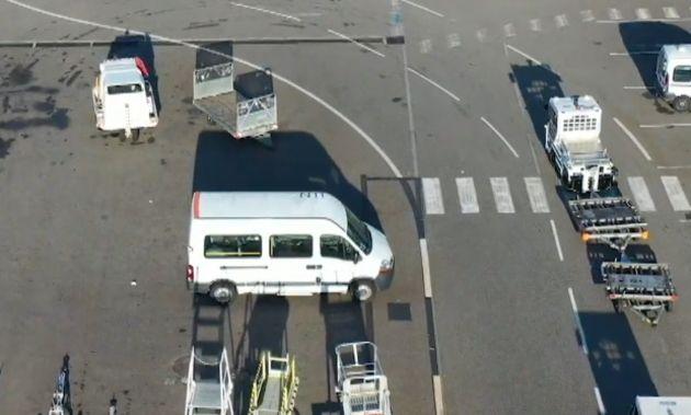 Test de tracteur autonome à l'aéroport de Toulouse