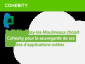 La Mairie d'Issy-les-Moulineaux choisie Cohesity pour la sauvegarde de ses données d'applications métier.
