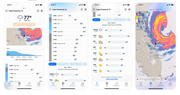 Apple acquiert l'application météo Dark Sky, et vire la version Android