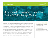 4 raisons de sauvegarder Microsoft Office 365 Exchange Online